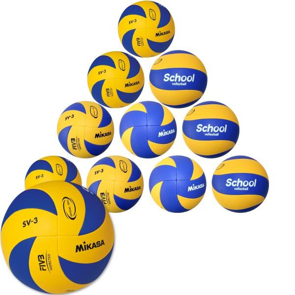 10er Ballpaket MIKASA Hallenvolleyball School SV-3