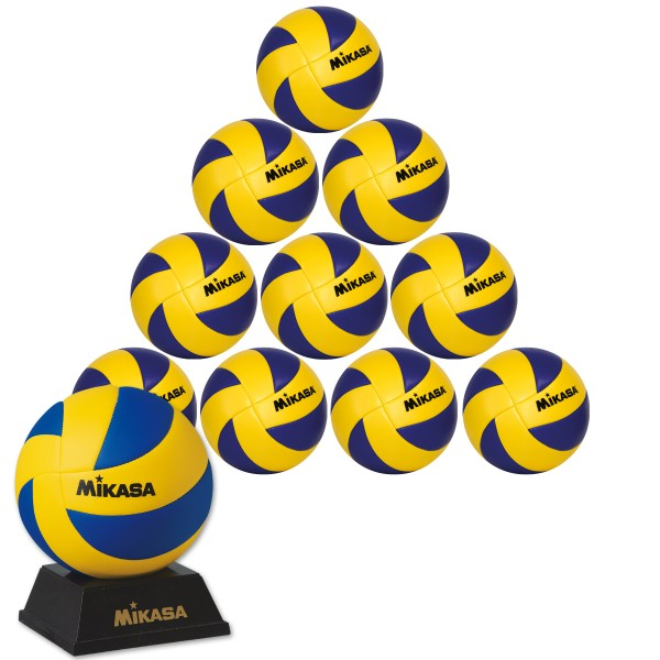 10er Ballpaket MIKASA MVA 1.5 Hallen Mini-Volleyball