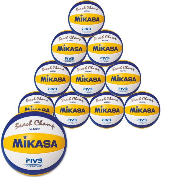 10er Ballpaket MIKASA Beach Champ VLS 300 DVV
