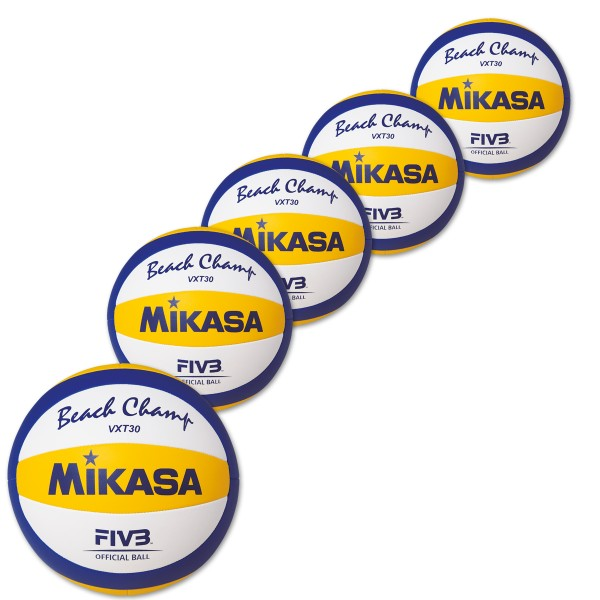 5er Ballpaket  MIKASA Beachvolleyball Beach Champ VXT 30