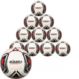 10er Ballpaket Mikasa REGATEADOR5-R Fuß- und Footvolleyball