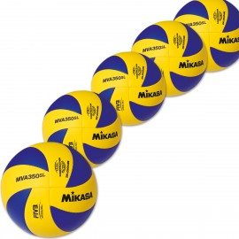 5er Ballpaket MIKASA MVA 350SL Light Volleyball