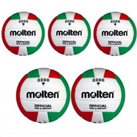 5er Ballpaket Molten V5M2200 Volleyball