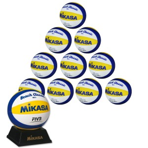 10er Ballpaket MIKASA VX 3.5 Beach Mini Promoball