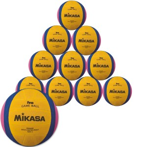10er Ballpaket MIKASA Wasserball W6000W Herren