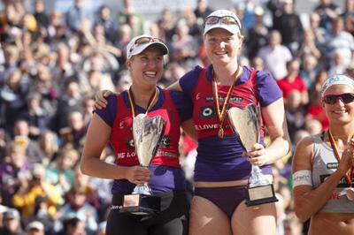 Deutsche Beach-Volleyball Meisterinnen 2010: Julia Sude / Jana Köhler